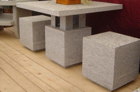 tischgarnitur aus granit. Black Bedroom Furniture Sets. Home Design Ideas